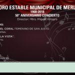 """EL CORO MUNICIPAL DE MERLO CUMPLE 5 DÉCADAS Y LO FESTEJA CON """"50° ANIVERSARIO CONCIERTO"""""""