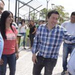 LEO NARDINI VISITÓ LA OBRA DEL NUEVO ENTORNO URBANO | El centro de Los Polvorines gana espacio para los vecinos
