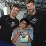 MALVINAS ARGENTINAS | José Meolans y Eduardo Otero dieron una clínica de natación en el Polideportivo de Los Polvorines